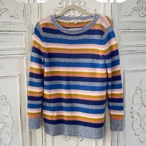 LOFT Pastel Rainbow Sweater - Petite Medium